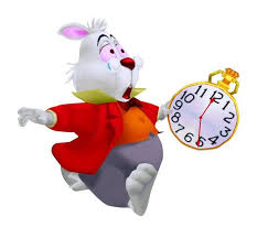 Image result for white rabbit and clock