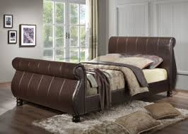 birlea mille brown 5ft kingsize faux leather bed frame