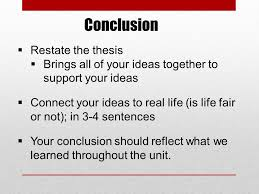 "life is not fair"" essay explanations requirements ppt   life is fair or not 7 conclusion  restate"