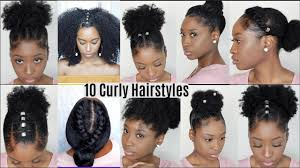10 quick easy hairstyles for natural curly hair insram inspired hairstyles