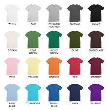 Gildan Shirt Color Chart 2016 44 Unique Shirt Color Chart