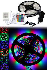 RGB ŞERİT LED DIŞ MEKAN (5 METRE KUMANDALI HAZIR SET)