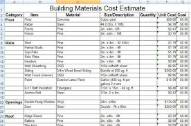 construction estimate sample download construction building materials cost estimate sample