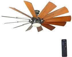 led ceiling fan light kit remote control indoor reversible espresso bronze 60in