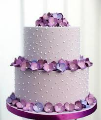 2 Tier Wedding Cake Structure With Purple Flowers Sri Lanka Online