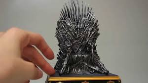game thrones iron. Unboxing: Game Of Thrones \u2013 Iron Throne Replica Bookend