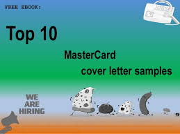 Top 10 Master Card Cover Letter Samples