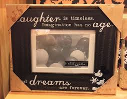 disney parks imagination has no age wood photo frame holds a 4x6 new w box