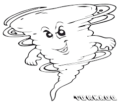 tornado coloring pages.  Pages Click The Happy Cartoon Tornado  And Coloring Pages E