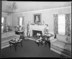 Mrs Royce G Martin Interior Of House Home Living Room With - 1930s house interiors