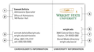 business card office university business card office of marketing wright state university