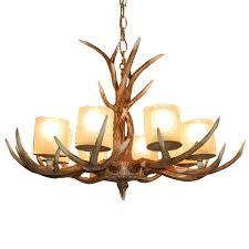 american antler chandelier glass lampshade resin led lamps retro living room dining room light bar modern