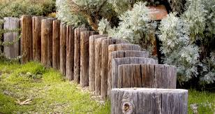 garden fence. Wooden Fence And Garden