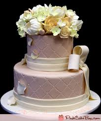 Champagne Quilted Birthday Cake