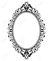 mirror frame drawing. Modren Drawing 1128x1300 Vector Illustration Of Vintage Mirror Royalty Free Cliparts To Frame Drawing I