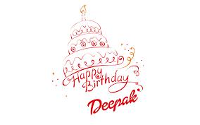 Deepak Happy Birthday Vector Cake Name Png