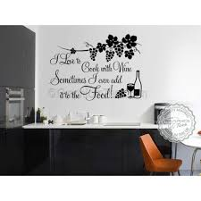 i love to cook with wine funny kitchen cooking quote vinyl wall art sticker