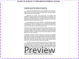 levels of analysis in international relations essays custom  levels of analysis in international relations essays the level of analysis problem in
