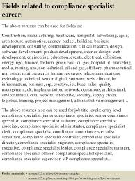 Regulatory Compliance Specialist Sample Resume