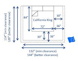 North American California King Bed Size and Space