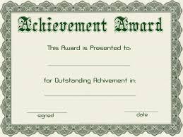 Achievement Awards Certificates Templates Certificates Simple Award Certificate Templates Designs