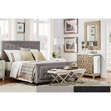 Bellevista Square Button-tufted Upholstered Full-size Bed with Footboard by  iNSPIRE Q Bold - Free Shipping Today - Overstock.com - 16595343