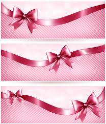 Pink Banners Pink Banners With Ribbons Vector Free Download