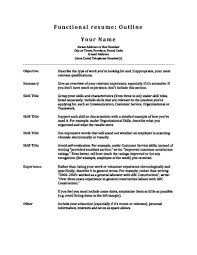 When To Use A Functional Resume Awesome 48 Customizable Resume Outline Templates And WorkSheets