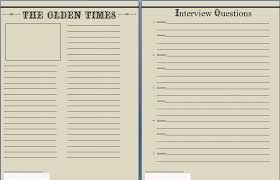 The Times Newspaper Template The Olden Times Newspaper Template For Biographies Lit Mama