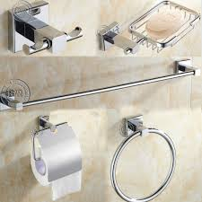 bathroom towel rack chrome free free shippinground stainless steel bathroom accessories setsoap dishro
