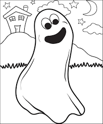 Small Picture FREE Printable Ghost Coloring Page for Kids 3