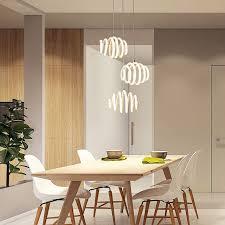 Modern Led Pendant Light For Kitchen Dining Room White Lamp Bedroom Round Roll Hanging Lamp