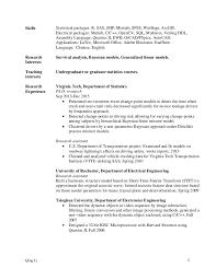 Skills On A Resume Amazing Qing Li Resume Cv