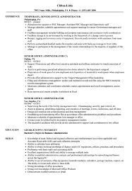 Cover Letter Senior Office Administrator Resume Samples Velvet