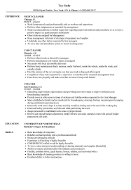 Cleaner Resume Samples Velvet Jobs