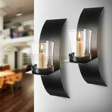 wall candle holders black 2 5 dealsan