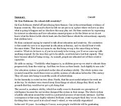 summary of an article by sir ken robinson do schools kill document image preview
