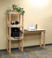 DIY Standing Desk with Shelving Unit Project Sheet - DIY Done Right DIY  standing desk