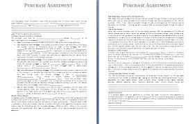 purchase agreement sample purchase agreement template free agreement templates