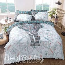 elephant mandala print duvet set and pillowcase bedding set