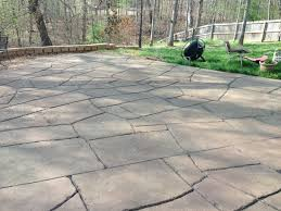Beautiful Stained Stamped Concrete Patio Deck Pool Builder Aquacrete Inside Inspiration