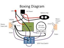 a generic stompbox wiring diagram homemade music a generic stompbox wiring diagram