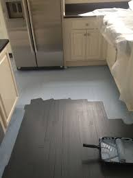 Kitchen Floor Tile Paint A Country Farmhouse Gray Painted Floors White Plank Walls
