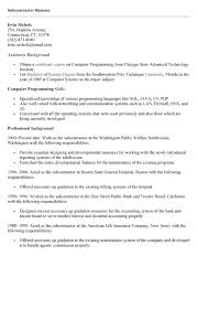 Subcontractor Resume Sample