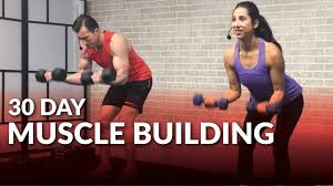 Free Gym Workout Chart 30 Day Muscle Building Program At Home