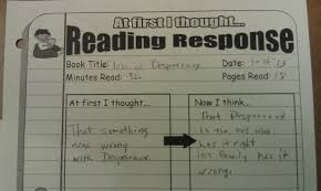 five minute reading responses scholastic  at first i thought and now i think
