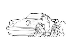 Porche 911 free colouring pages