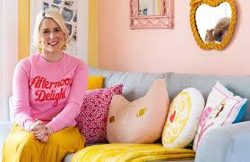 steven mclaren rachel in her colourful home