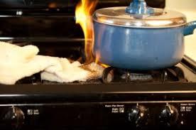 burning pot and towel