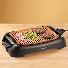 nonstick ceramic copper 13 countertop electric grill by hmp view